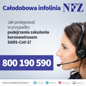 Plakat całodobowa infolinia NFZ