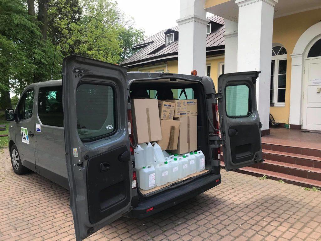 Przekazanie środków ochrony osobistej dla Domów Pomocy Społecznej na terenie powiatu chełmskiego