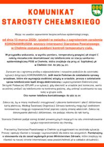 Komunikat Starosty Chełmskiego