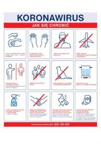Plakat koronawirus jak się chronic