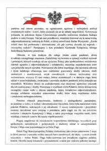 Odezwa Komitetu Honorowego Obchodów Święta Narodowego Trzeciego Maja w Województwie Lubelski - część 2