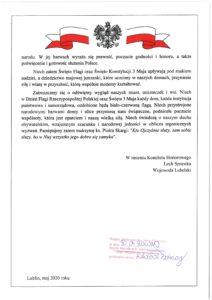 Odezwa Komitetu Honorowego Obchodów Święta Narodowego Trzeciego Maja w Województwie Lubelski - część 3