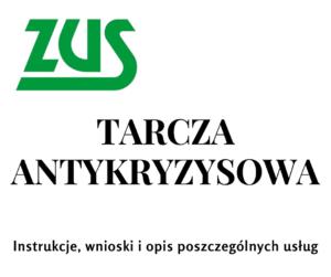 Logo ZUS i tarcza antykryzysowa