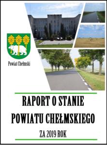 Okładka raport o stanie Powiatu Chełmskiego za 2019 rok