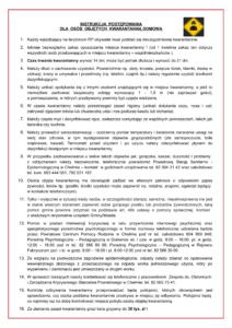 Instrukcja dla osób objętych kwarantanną domową